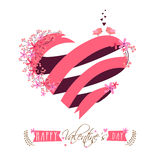 Creative heart for Valentine's Day celebration. Stock Photos
