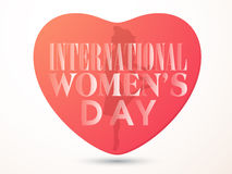 Creative heart for Women's Day celebration. Stock Photo