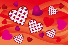 Creative hearts background Royalty Free Stock Photo