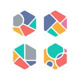 Creative Hexagon Symbol. Colorful Themed. Geometric Shape vector illustration