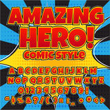 Creative High Detail Comic Font. Royalty Free Stock Image