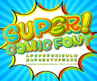 Creative high detail comic font. Alphabet, comics, pop art. Stock Photo