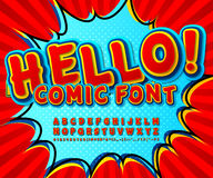 Creative high detail comic red font, explosion Stock Photo