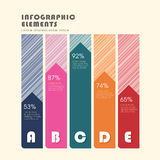 Creative histogram infographics design Stock Photography