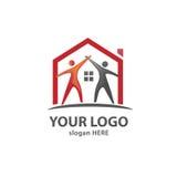 Creative Home  Care. Care Home Creative And Symbolic neighborhood Logo Design Illustration, property agency logo vector Royalty Free Stock Photo