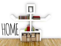 Creative home interior design idea of modern workspace. Creative home, interior design idea of modern workspace royalty free illustration