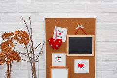 Creative HorisontalValentine`s Day mock up in a Scandinavian style with wise phrase small things Stock Photo