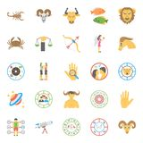 Creative Horoscope, Numerology and Astrology Flat IconsFlat Icons Set of Horoscope, Numerology and Astrology. This pack is enriched with the flat icons of Stock Photography