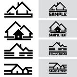 Creative House Icons from Lines. Concept Idea Royalty Free Stock Photos