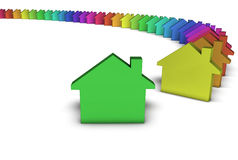 Green House Icon Colorful Concept Stock Image