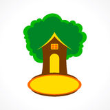 Creative house tree icon Stock Photography