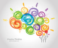 Creative Human Brain in the Work. Conceptual Background for Business and Education Stock Photo