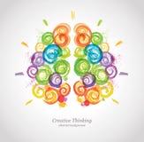 Creative Human Brain in the Work. Royalty Free Stock Photo