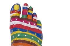 Creative human foot Royalty Free Stock Image