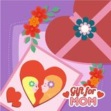 Creative I love Mom Illustration Vector Art Logo. Creative i love mom illustration for various used and purposed just for you the great people Royalty Free Stock Image