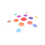 Creative icon round shape. Vector  sun logo design template. Abstract dots symbol. Royalty Free Stock Photo