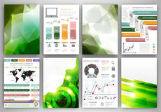 Creative icons and backgrounds set Stock Photos