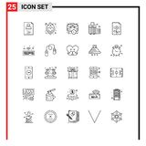 25 Creative Icons Modern Signs and Symbols of business, luggage, business, case, bag