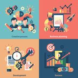 Creative icons set flat Royalty Free Stock Image
