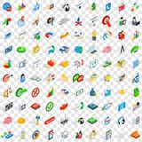 100 creative icons set, isometric 3d style Royalty Free Stock Photo