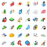 Creative icons set, isometric style Royalty Free Stock Photo