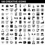 100 creative icons set, simple style. 100 creative icons set in simple style for any design illustration stock illustration