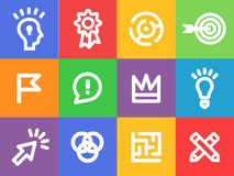 Creative icons vector set Royalty Free Stock Photo