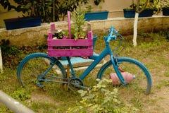 Creative. Idea of unusual bicycle suburban yard Stock Photography