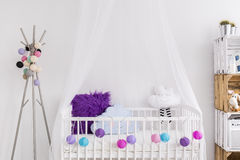 Creative idea for baby girl cradle Royalty Free Stock Photo