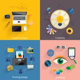 Creative idea, branding, graphic design icon set Royalty Free Stock Images