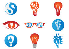 Creative idea bulb lamp Royalty Free Stock Images
