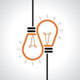 Creative idea in bulb shape as inspiration concept. Vector design element. Stock Photography