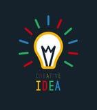 Creative idea with bulb shape. Imagine concept Stock Photo