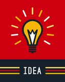 Creative idea with bulb shape. Imagine concept Royalty Free Stock Photography
