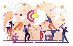Creative Idea of Business Success. Office Teamwork stock illustration