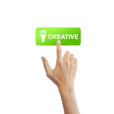 Creative idea button Stock Photography