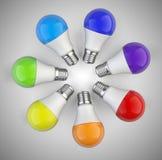Creative Idea - with circle shape of colored kaleidoscope of rai Stock Photos