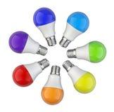 Creative Idea - with circle shape of colored kaleidoscope of rai Royalty Free Stock Photography