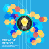 Creative idea concept design Stock Photography