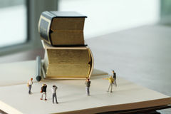 Creative idea concept - miniature photographer Stock Image