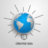 Creative idea earth. Vector illustration Royalty Free Stock Photo