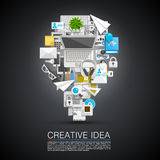 Creative idea of flat collage icons Stock Image