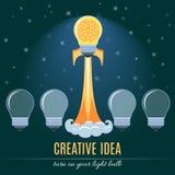 Creative Idea Flat Concept. Creative Idea. Flat Design Colorful Vector Illustration Concept Royalty Free Stock Photo