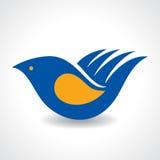 Creative Idea - Hand make a bird icon Stock Photo