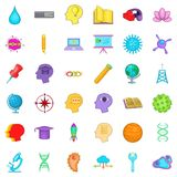 Creative idea icons set, cartoon style Royalty Free Stock Photos