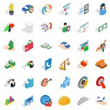 Creative idea icons set, isometric style Royalty Free Stock Photos