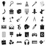Creative idea icons set, simple style Stock Image