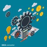 Creative idea, idea generator, innovation vector concept Royalty Free Stock Photography