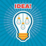 Creative Idea Illustration - Vector Graphic Concept - Light Bulb - Lamps Illustration Royalty Free Stock Photography