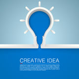 Creative idea lamp Royalty Free Stock Photography
